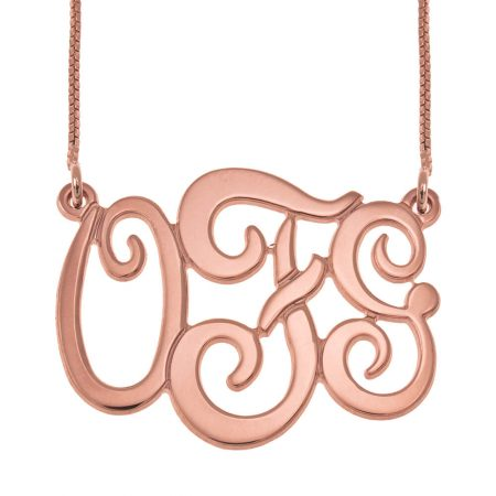 Monogram Three Initials Necklace