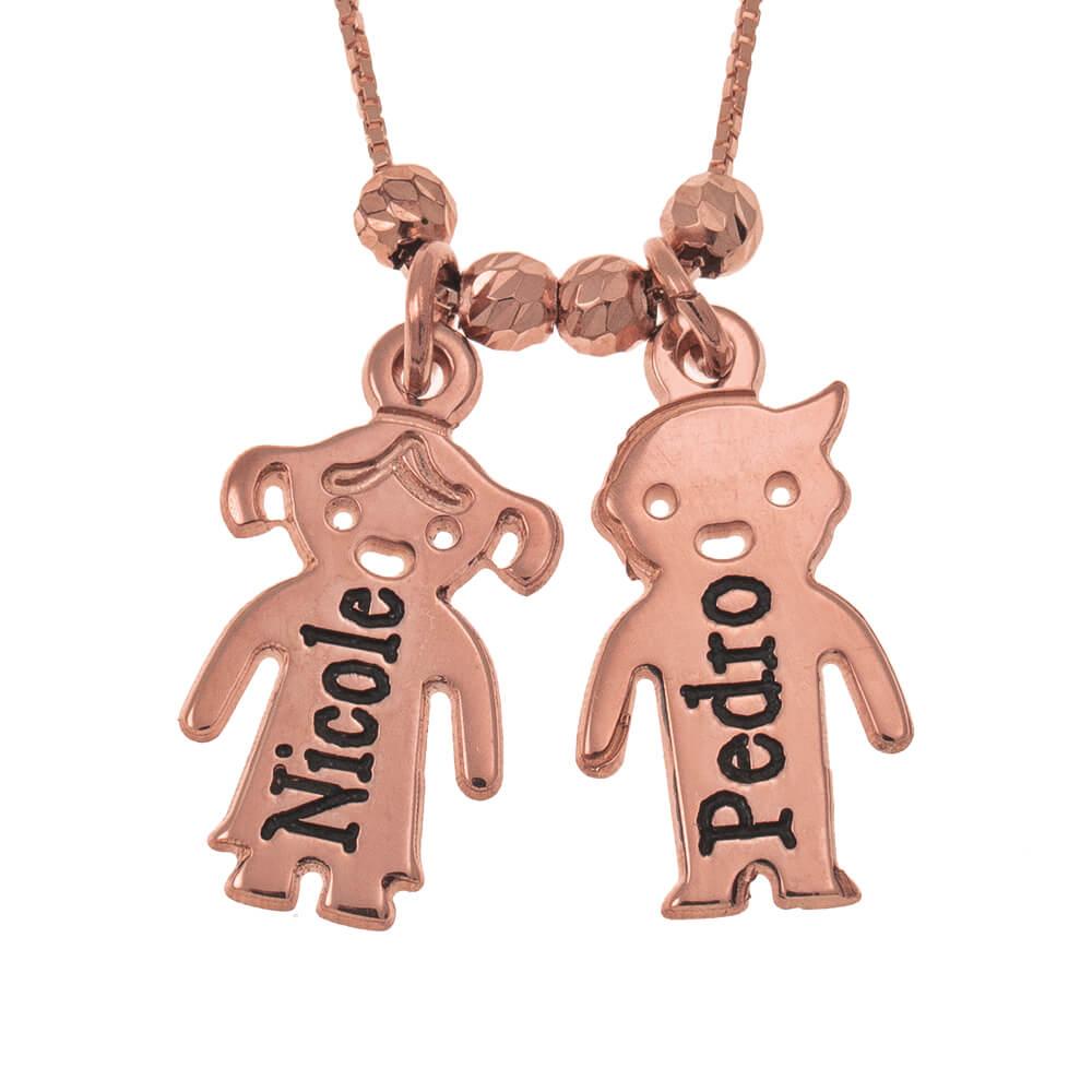 Engraved Children Necklace rose gold