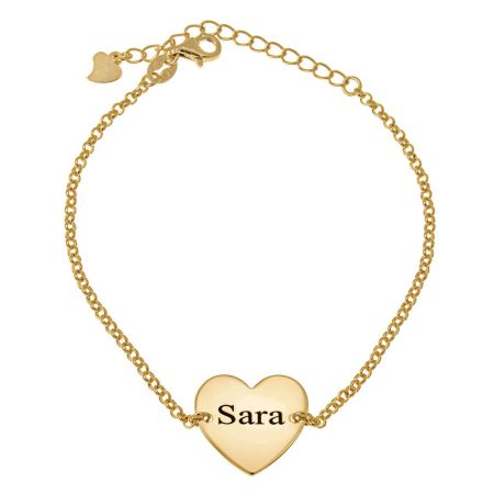Heart Name Bead Bracelet