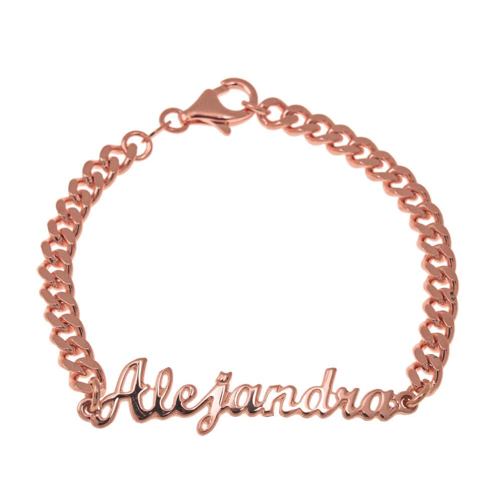 Name Bead Bracelet rose gold