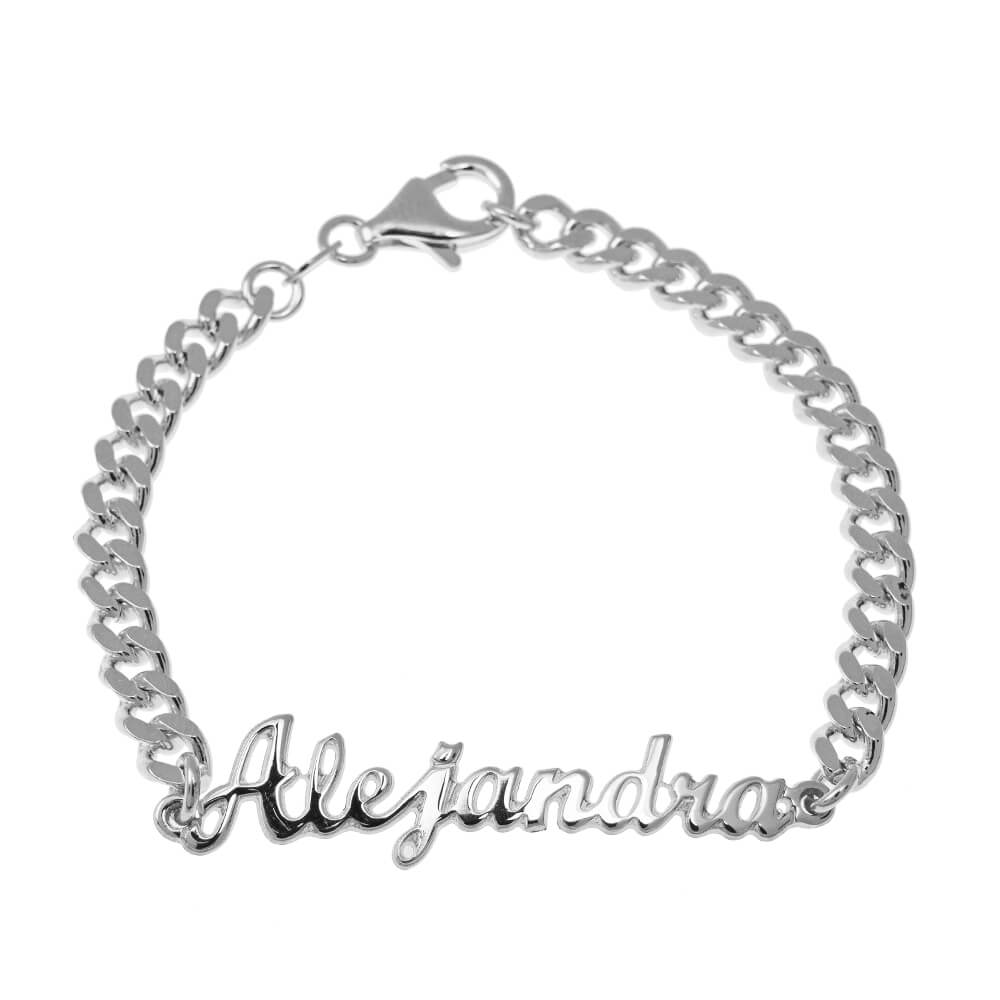 Name Bead Bracelet silver