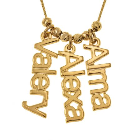 Vertical 3 Names Necklace