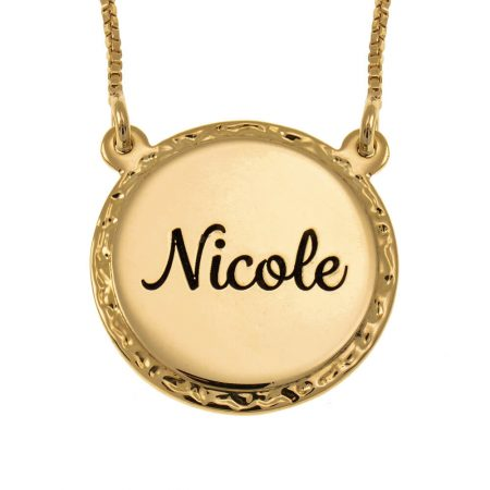 Engraved Name Disc Necklace