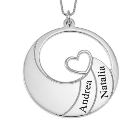 Two Names Spiral Necklace