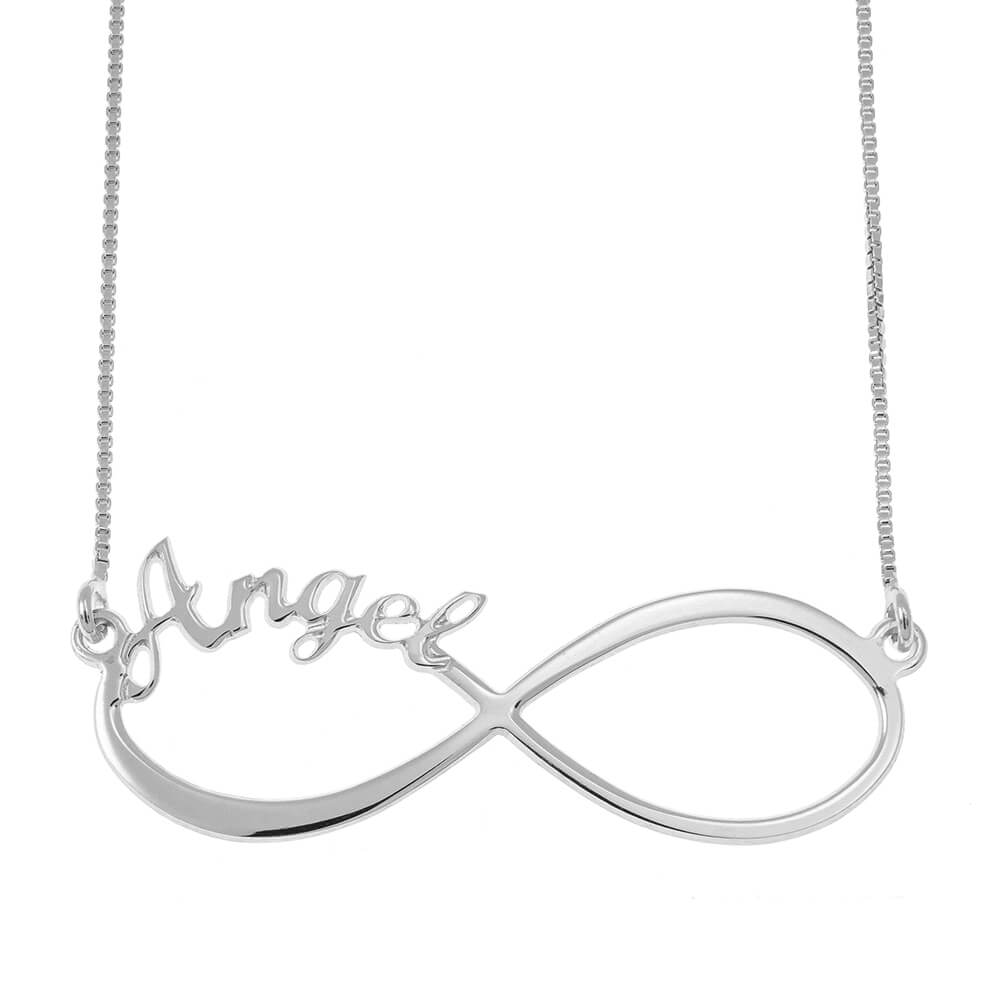 Infinity one Name Necklace silver