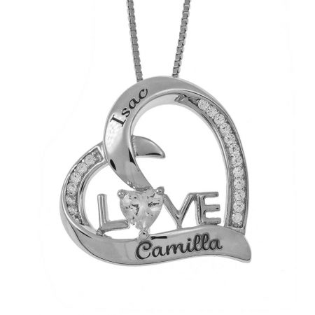 Shining LOVE Heart Necklace