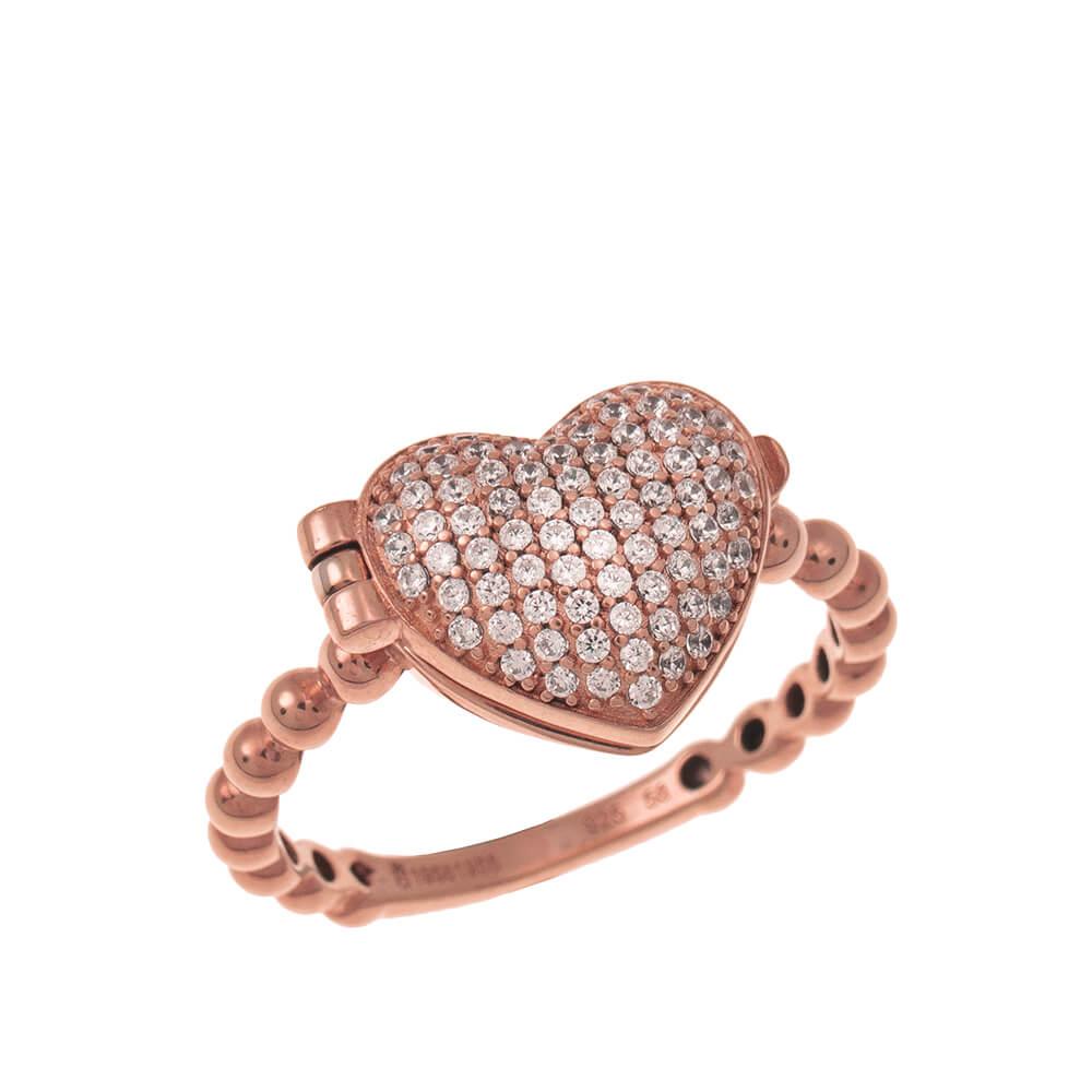Close Locket Heart Ring rose gold