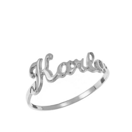 Cut Out One Name Ring