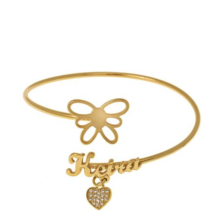 Flex Name Bracelet With Butterfly