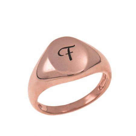 Initial Oval Signet Ring