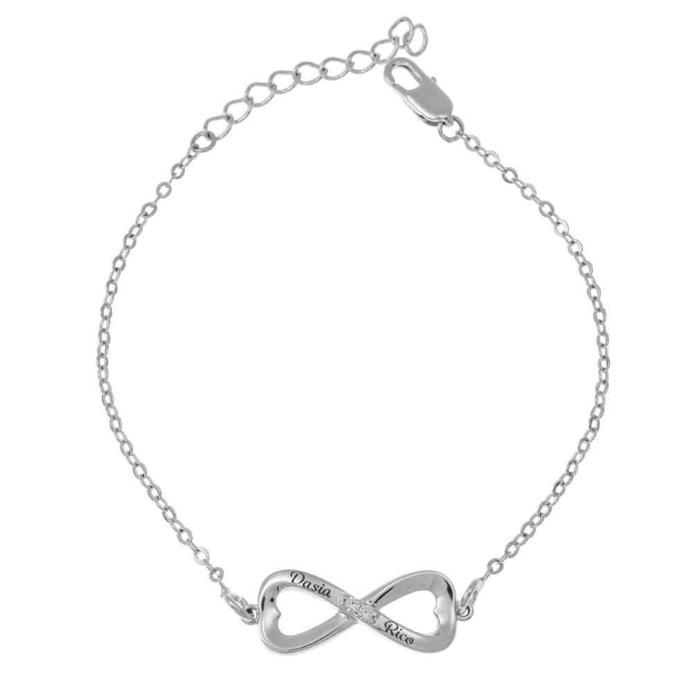 Inlay Infinity Bracelet silver