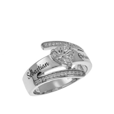 Inlay Two Names Ring