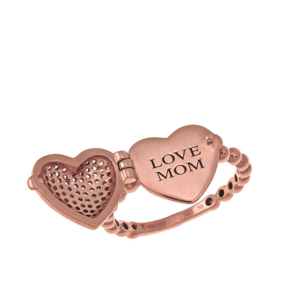 Locket Heart Ring rose gold