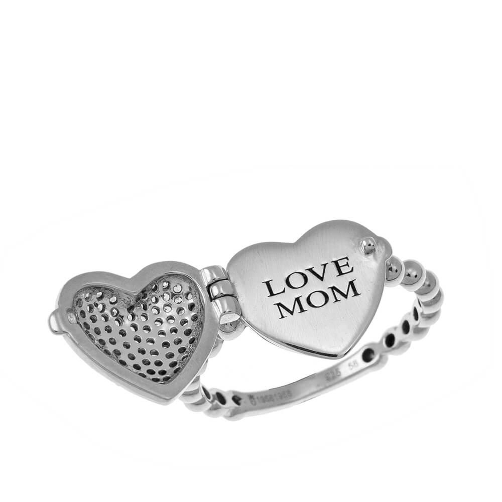 Locket Heart Ring silver
