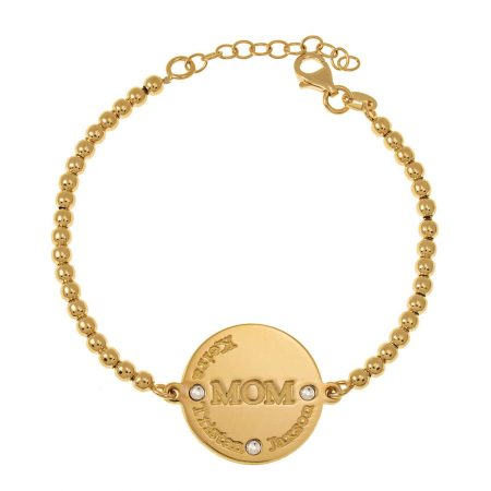MoM Disc Bead Names Bracelet
