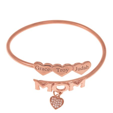 Mom Flex Bracelet with Hearts