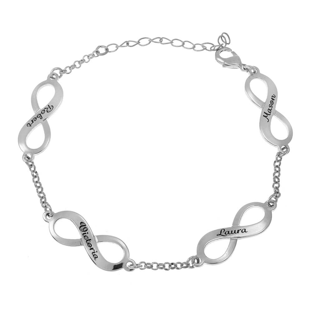 Multiple Infinity Mother Bracelet silver