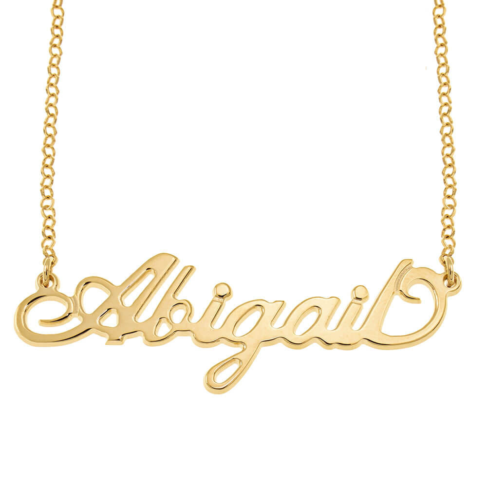 Carrie Rollo Name Necklace gold