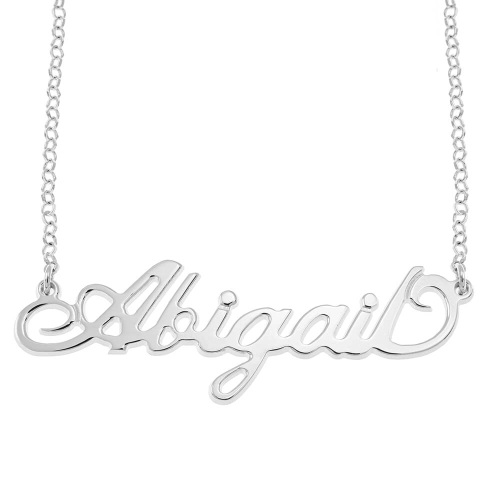 Carrie Rollo Name Necklace silver