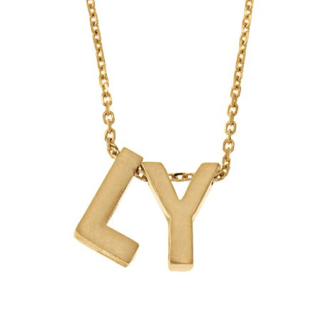 Chunky Matte Initial Necklace