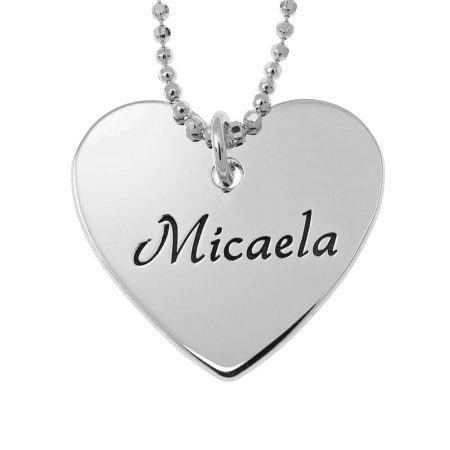 Dainty Heart Name Necklace