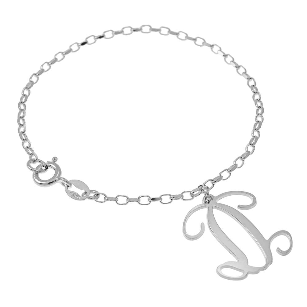 Gifts for Her Classic Bracelet 14kt Gold Filled Monogram Bracelet Initial Bracelet Monogram Bracelet Sterling Monogram Bracelet