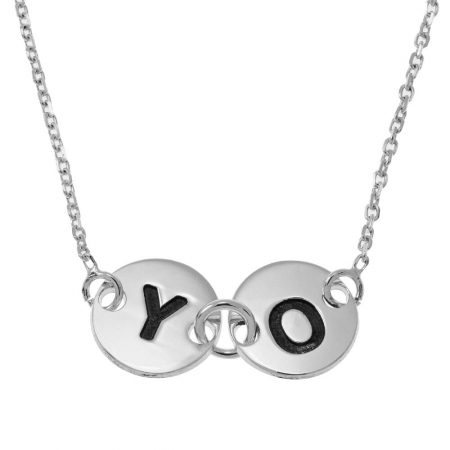 Forever Attached Discs Necklace