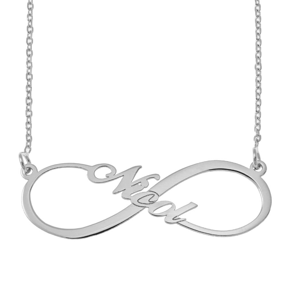 Infinity Style Name Necklace silver