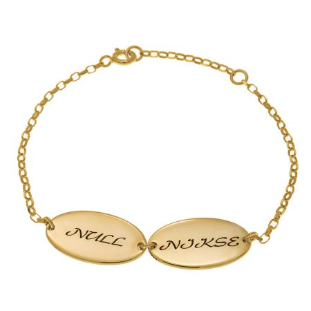 Oval Design Mom Bracelet with Kids Names
