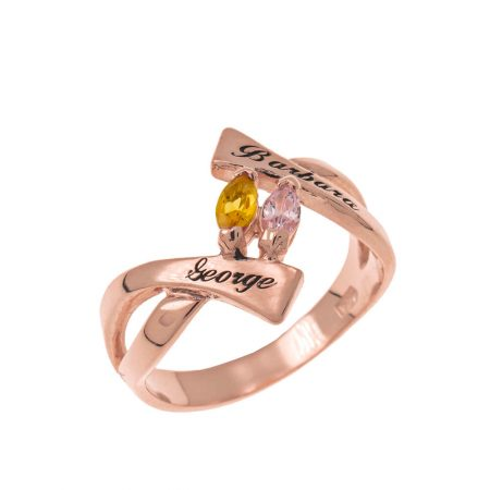 Personalized Birthstones Ring