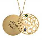 Personalized Double Layer Family Tree Necklace 2 names gold