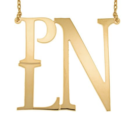 Square Monogram Necklace