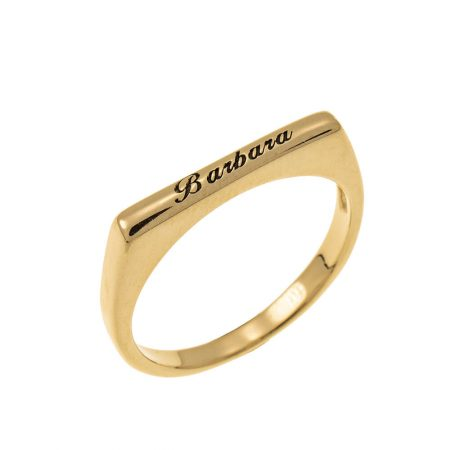 Stackable Rectangular Name Ring