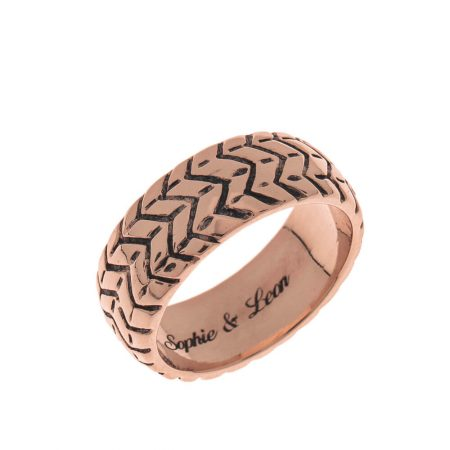 Tyre Engraved Ring