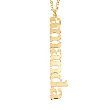 Vertical Design Name Necklace