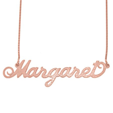 Carrie Brushed Name Necklace with Box Chain