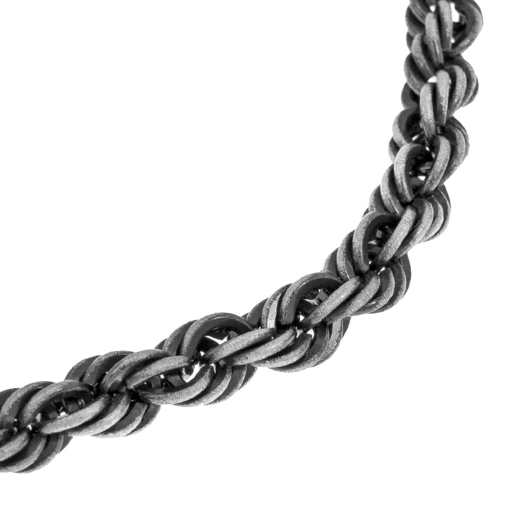 Matte Rope Bracelet for Men rope close up