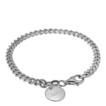 Disc Gourmette Bracelet for Men