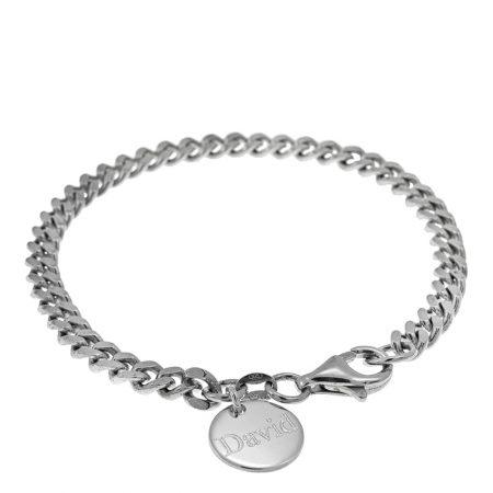 Disc Gourmette Bracelet for Men
