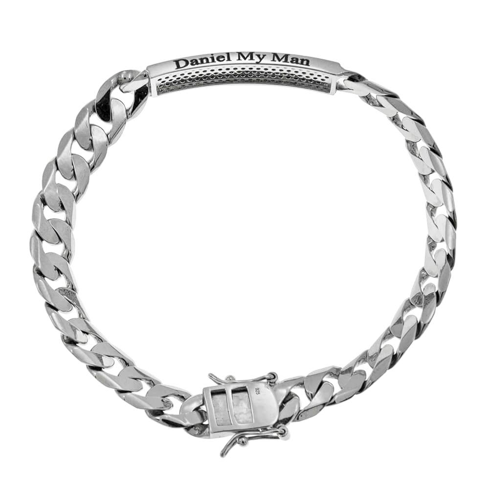 Inlay Gourmette Bracelet For Men silver 1