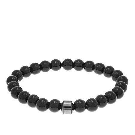Black Beads Bracelet for Men