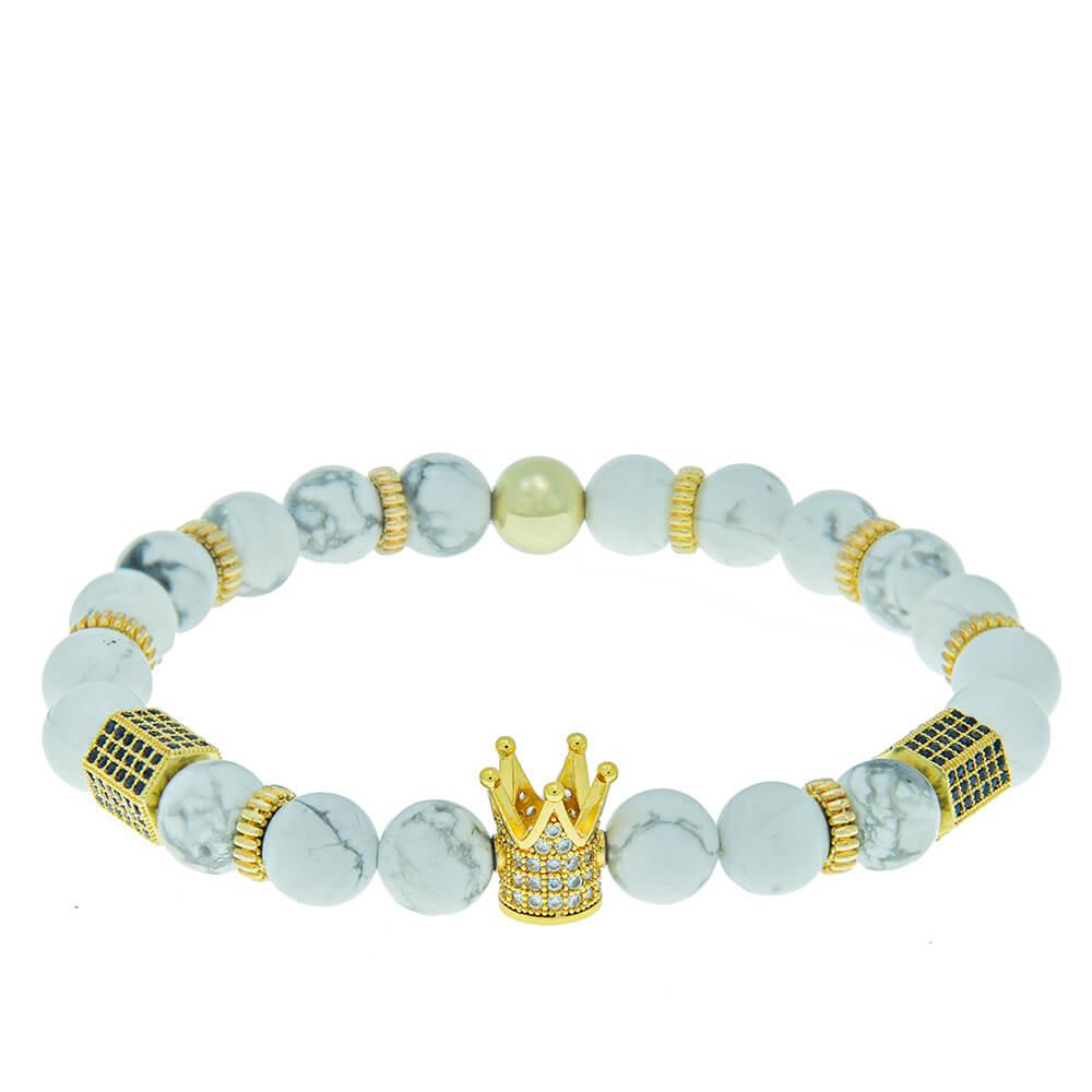 Crown Bead Bracelet for Men