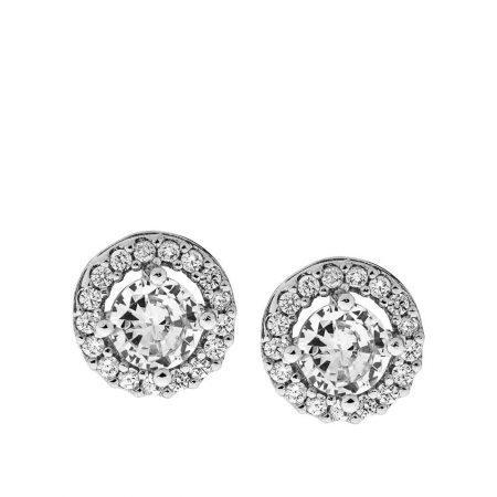 Round Shape Cubic Zirconia Earrings