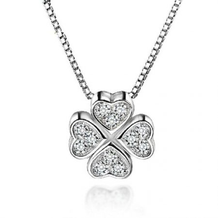 4 Hearts inlay Necklace