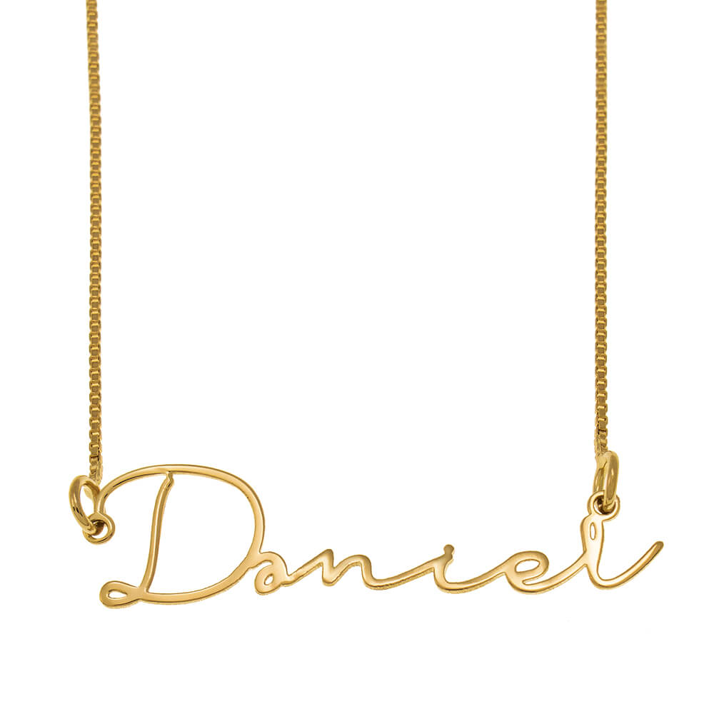 Signature Name Necklace gold