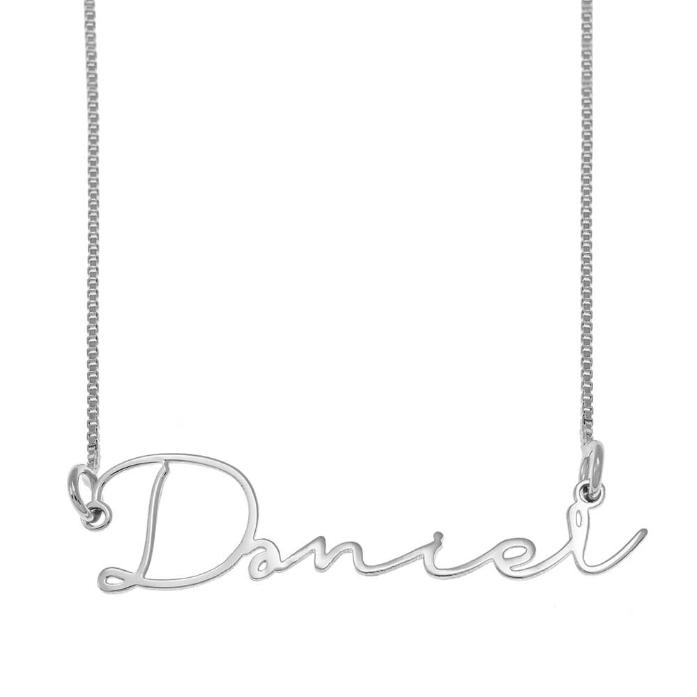 Signature Name Necklace silver
