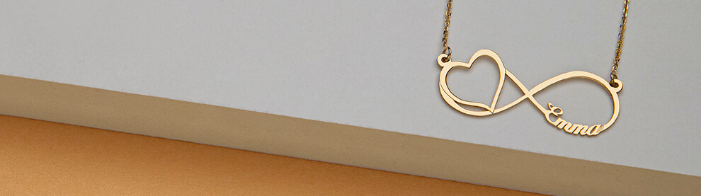 Infinity Necklaces mobile banner