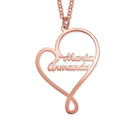 Written With Love Heart Names Necklace